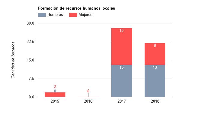 Formación de recursos humanos locales